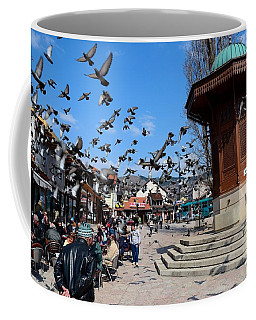 Wooden Ottoman Sebilj Water Fountain In Sarajevo Bascarsija Bosnia Coffee Mug