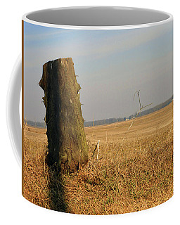 Wooden Post 3 Of 5 Coffee Mug by Tina M Wenger
