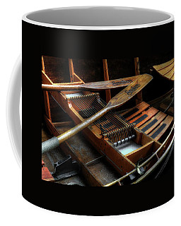 Wooden Rowboat And Oars Coffee Mug