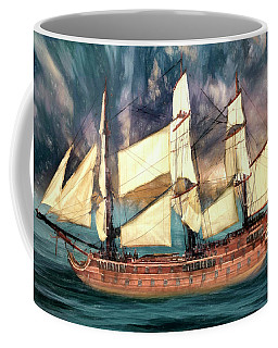 Wooden Ship Coffee Mug by Michael Cleere