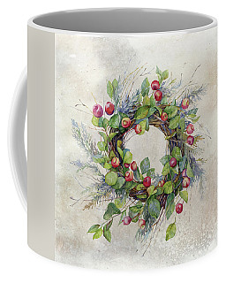 Woodland Berry Wreath Coffee Mug by Colleen Taylor