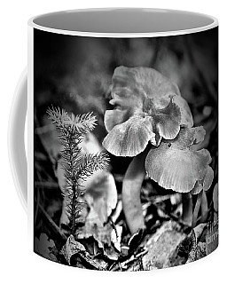 Woodland Mushrooms In Black And White Coffee Mug