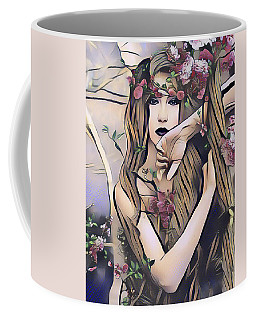Coffee Mug featuring the digital art Woodland Nymph by Kathy Kelly