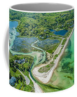 Woodneck Beach At 400 Feet Coffee Mug