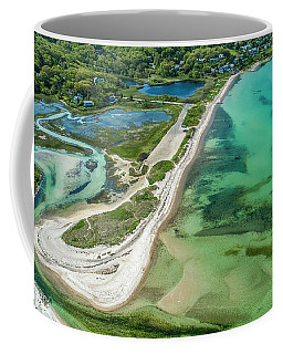 Coffee Mug featuring the photograph Woodneck Beach by Michael Hughes