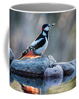 Woodpecker In Backlight Coffee Mug