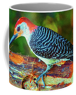 Woodpecker On A Log Coffee Mug