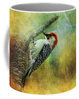 Woodpecker On Cherry Tree Coffee Mug