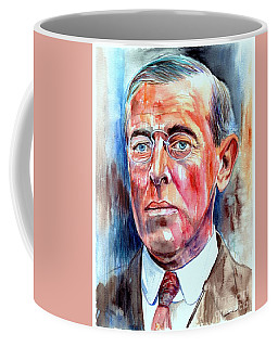 Woodrow Wilson Painting Coffee Mug