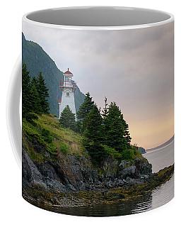 Woody Point Lighthouse - Bonne Bay Newfoundland At Sunset Coffee Mug