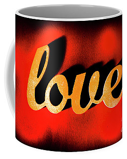 Words Of Love And Retro Romance Coffee Mug