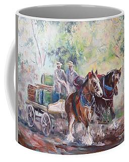Working Clydesdale Pair, Victoria Breweries. Coffee Mug