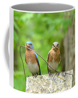 Working Couple Coffee Mug by Rand Herron