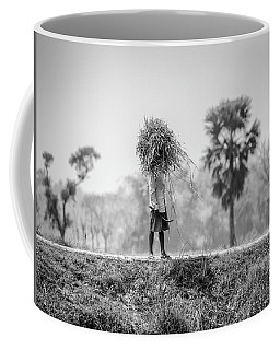Coffee Mug featuring the photograph Working In The Lower Ganges by Chris Cousins