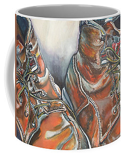 Working Man's Boots Coffee Mug by Stephanie Come-Ryker