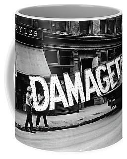 Workmen Hauling Damaged Sign Walker Evans Photo New York City 1930 Color Added 2008 Coffee Mug