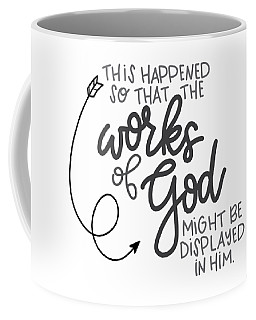 Coffee Mug featuring the mixed media Works Of God by Nancy Ingersoll