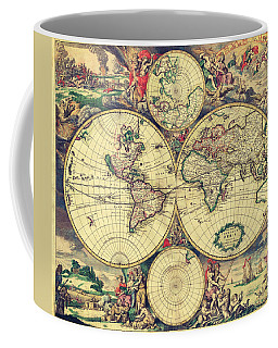 World Map 1689 Coffee Mug