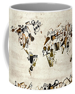 World Map Music 1 Coffee Mug