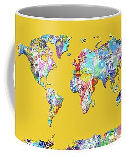 World Map Music 13 Coffee Mug by Bekim Art