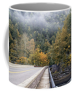 Worlds Ends Exit Road In The Fall Coffee Mug