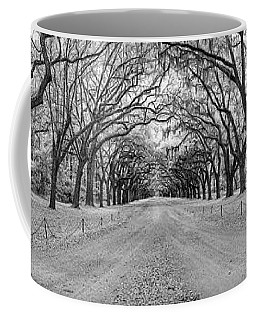 Coffee Mug featuring the photograph Wormsloe Pathway by Jon Glaser