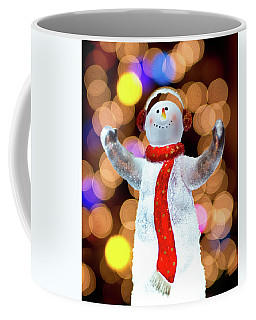 Worshiping Snowman Coffee Mug