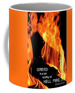 Coffee Mug featuring the photograph worthy of HELL fire by Paul W Faust - Impressions of Light