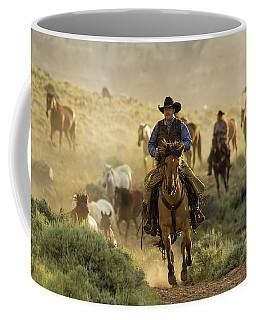 Wrangling The Horses At Sunrise  Coffee Mug