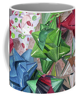 Coffee Mug featuring the painting Wrap It Up by Lynne Reichhart
