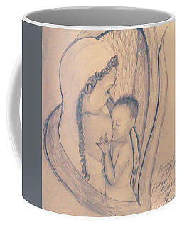 Wrapped Within The Angel Wings Of Momma Coffee Mug