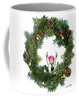 Wreath With Rose Coffee Mug