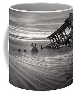Wreck Of Peter Iredale Bw Coffee Mug