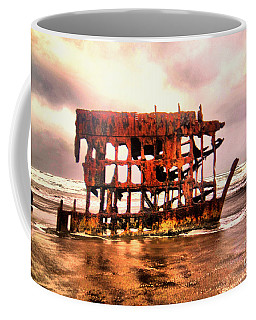 Wreck Of The Peter Iredale  Coffee Mug