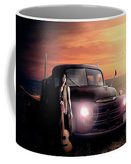 Coffee Mug featuring the digital art Wrecked  by Nathan Wright