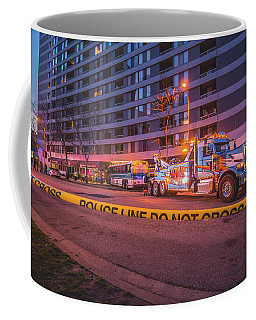 Wrecker And The Wreck At Dusk Coffee Mug