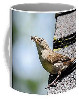 Wren On The Roof Coffee Mug