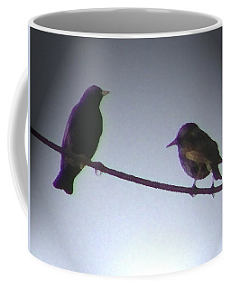 Wren Ya Goin Out Wit Me Coffee Mug by Lenore Senior