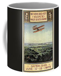 Wright Brothers - World's Greatest Aviators - Dayton, Ohio - Retro Travel Poster - Vintage Poster Coffee Mug