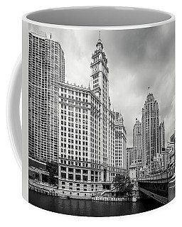 Coffee Mug featuring the photograph Wrigley Building Chicago by Adam Romanowicz