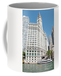 Wrigley Building Overlooking The Chicago River Coffee Mug