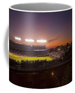 Wrigley Field At Dusk Coffee Mug