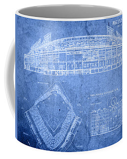 Wrigley Field Chicago Illinois Baseball Stadium Blueprints Coffee Mug