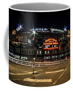 Wrigley Field Marquee At Night Coffee Mug