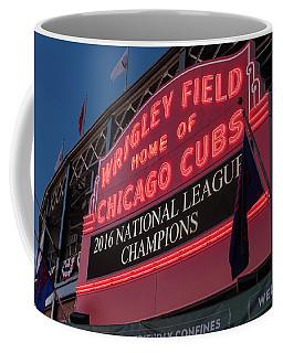 Wrigley Field Marquee Cubs National League Champs 2016 Coffee Mug