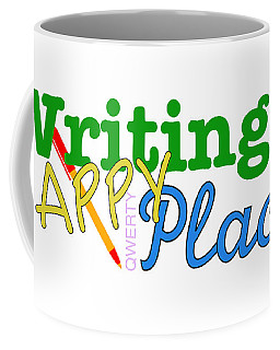 Writing Is My Happy Place Coffee Mug by Shelley Overton
