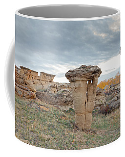 Coffee Mug featuring the photograph Writing On Stone Park by Fran Riley