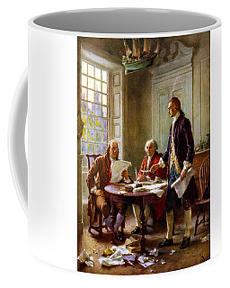 Writing The Declaration Of Independence Coffee Mug