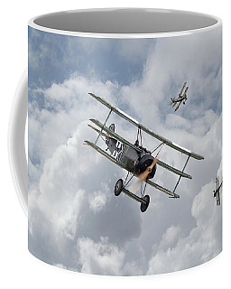 Coffee Mug featuring the photograph Ww1 - Fokker Dr1 - Predator by Pat Speirs