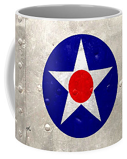 Ww2 Army Air Corp Insignia Coffee Mug by John Wills